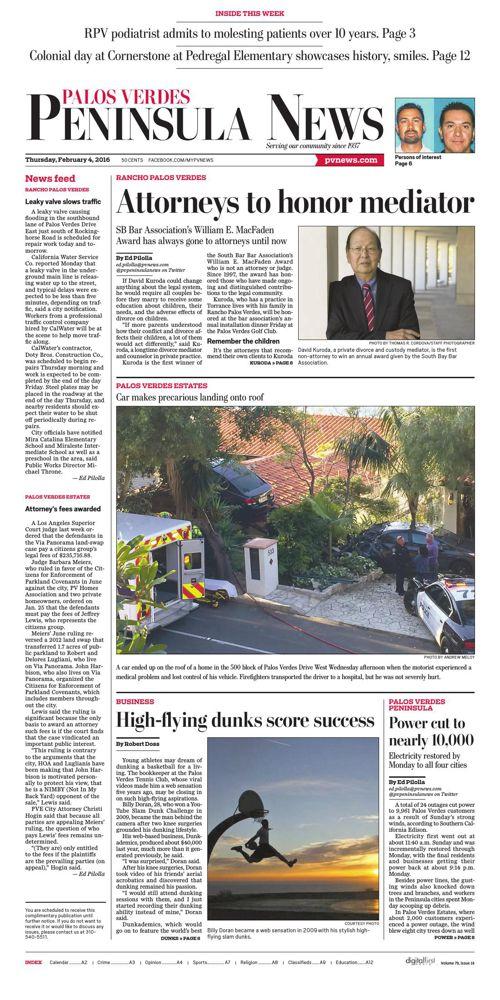 Palos Verde Peninsula News | 2-4-16