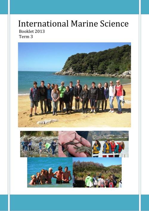 International Marine Science T3 2013