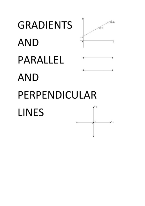 Gradients and Parallel and Perpendicular lines