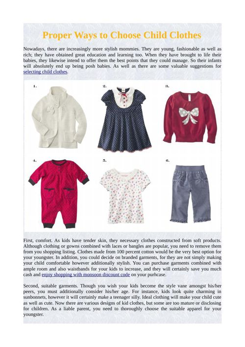 Proper Ways to Choose Child Clothes