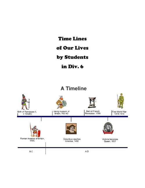 TimeLines of Our Lives by Div. 6 Students
