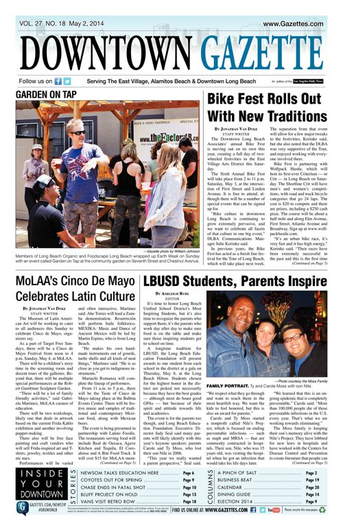 Downtown Gazette     May 2, 2014