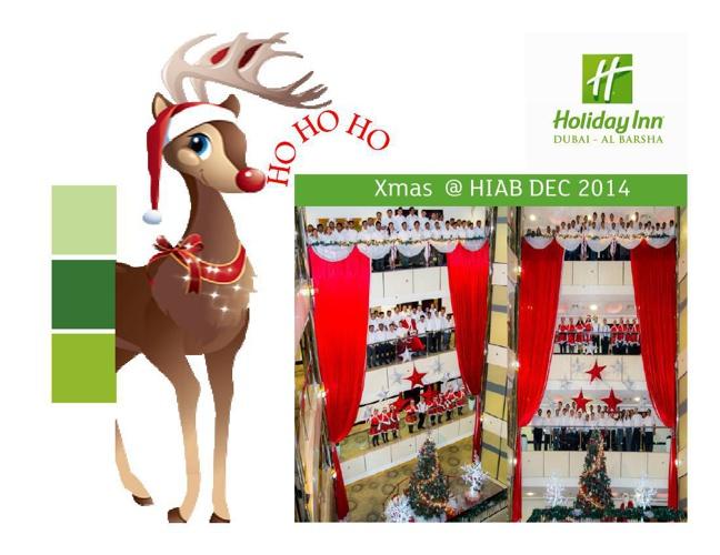 Christmas 2014 Holiday Inn Dubai - Al Barsha