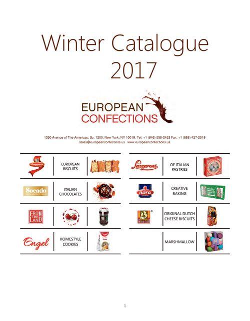 European Confections Winter 2017 Sales sheets