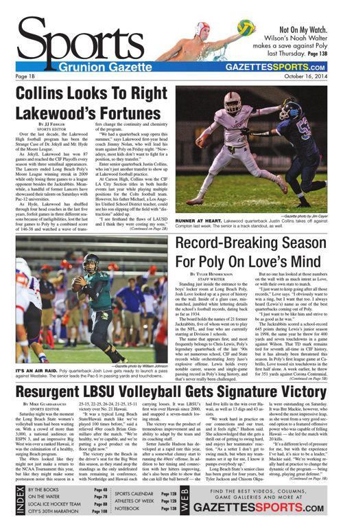 Gazette Sports | October 16, 2014