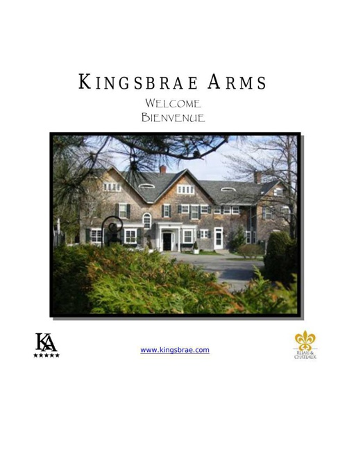 Kingsbrae Arms eBrochure 2015