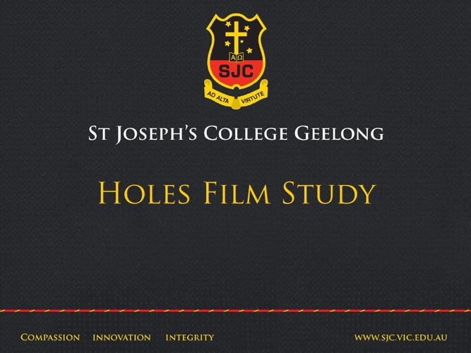 Holes Film Study Guide