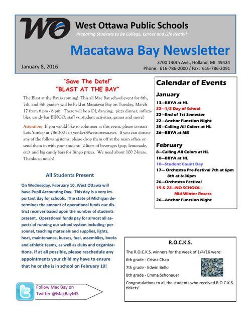 MB January 8 Newsletter