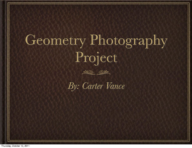 Geometry Photography Project