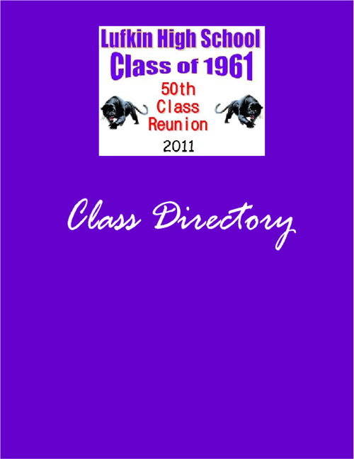 Lufkin High School - Class of 1961 - 50th Reunion