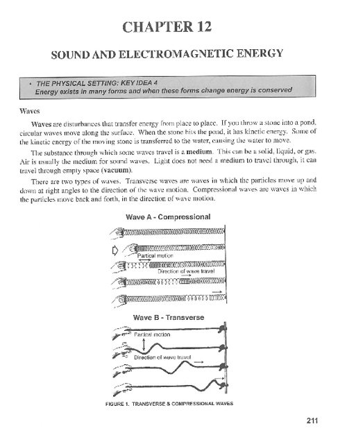 Ch 12: Sound and Electromagnetic Energy