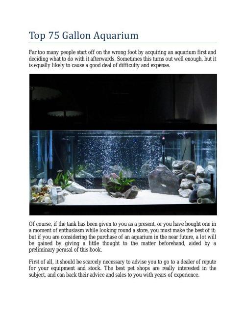 Top 75 Gallon Aquarium