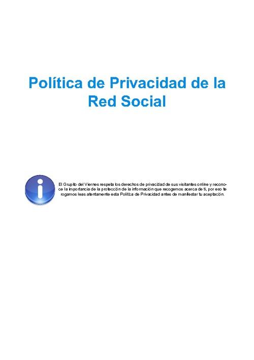 Política de Privacidad (Red Social)