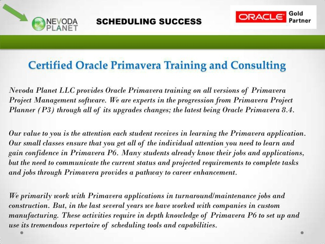 Oracle Primavera