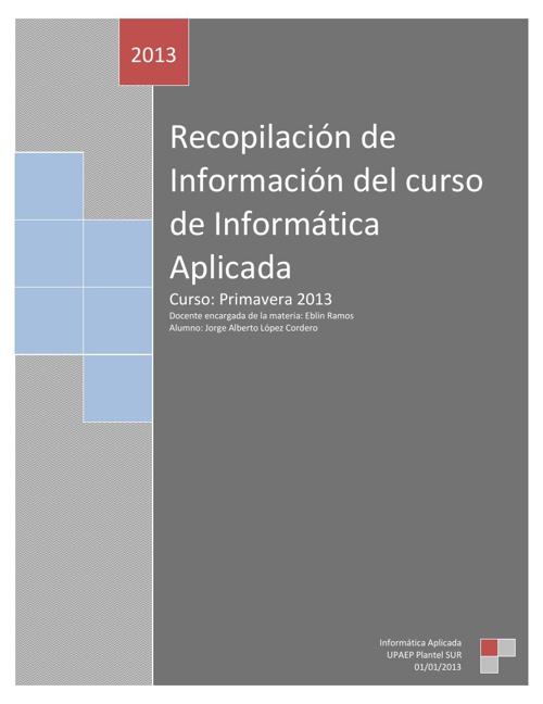 Proyecto examen extraordinario, Informática Aplicada.