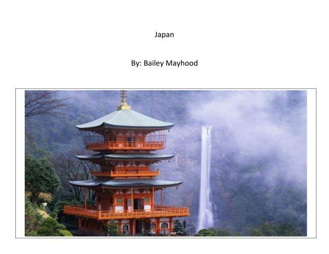 Bailey M:  Japan