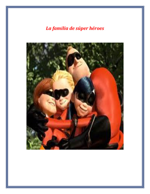 la familia de superheroes