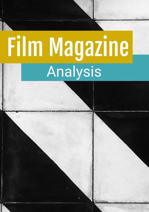 Magazine Cover Analysis – Total Film