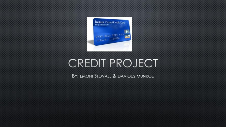 what is credit - samples 1&2