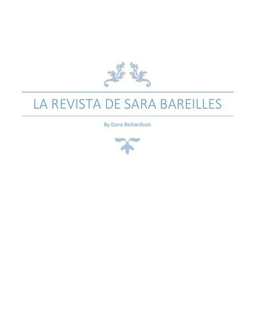La Revista De Sara Bareilles