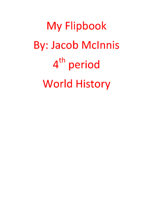 Jacob McInnis World History 4th period