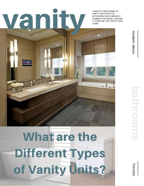 What are the Different Types of Vanity Units?