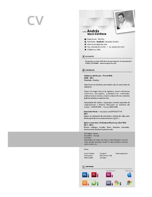 CV - Portafolio L.D.G. Andres Marin Cordova