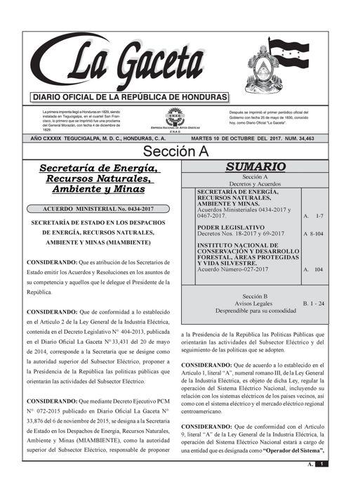 Ley Orgánica de la Policía Nacional - La Gaceta