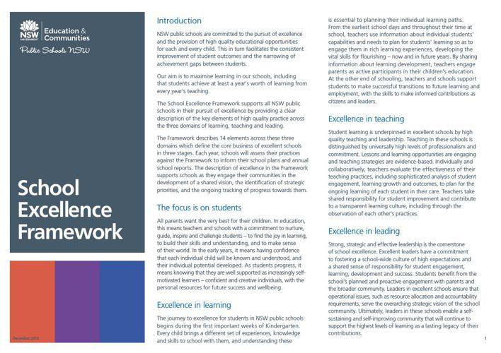 School_Excellence_Framework