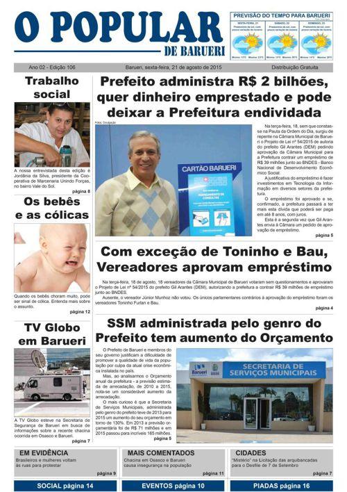 106ª edição do Jornal Popular de Barueri