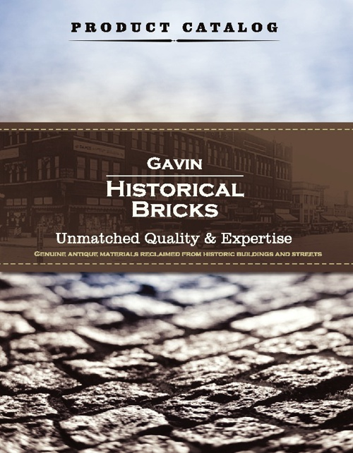Gavin Historical Bricks Product Catalog
