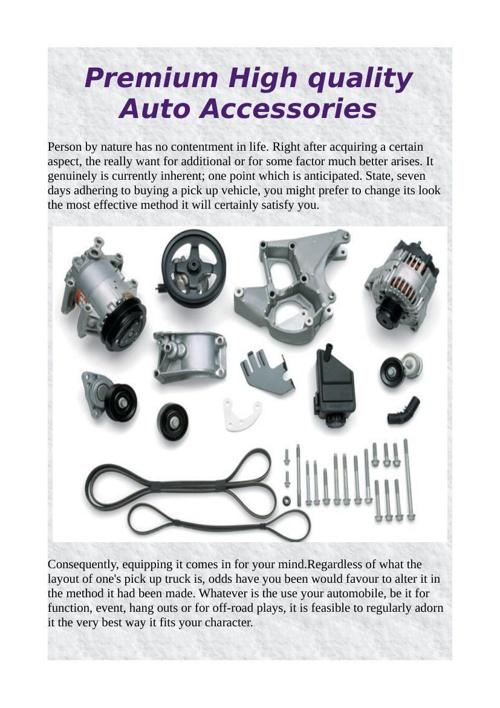Premium High quality Auto Accessories