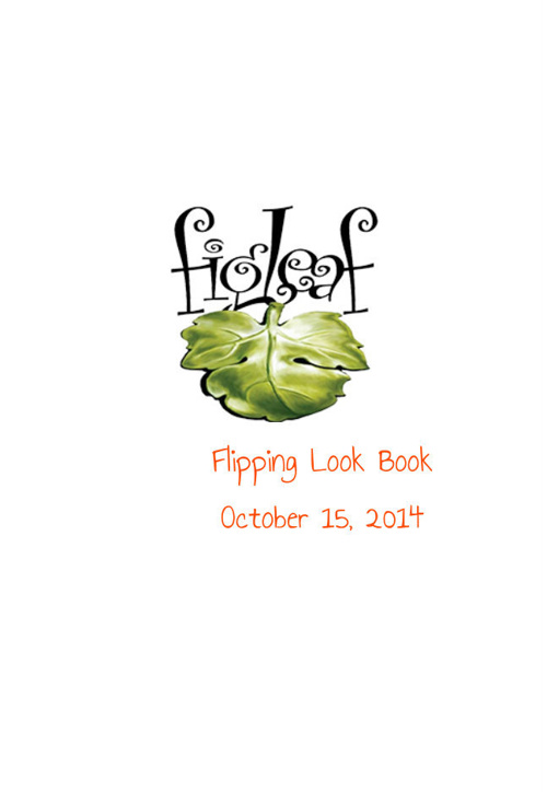 FIGLEAF BOUTIQUE LOOKBOOK 10.15.14
