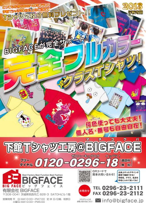 BIGFACE 2013学校専用