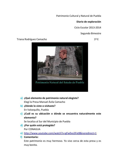 Patrimonio Cultural y Natural de Puebla