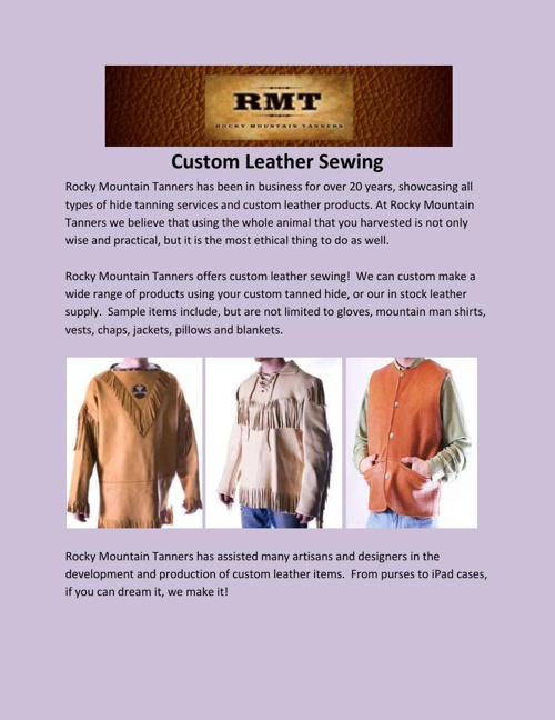 Custom Leather Sewing