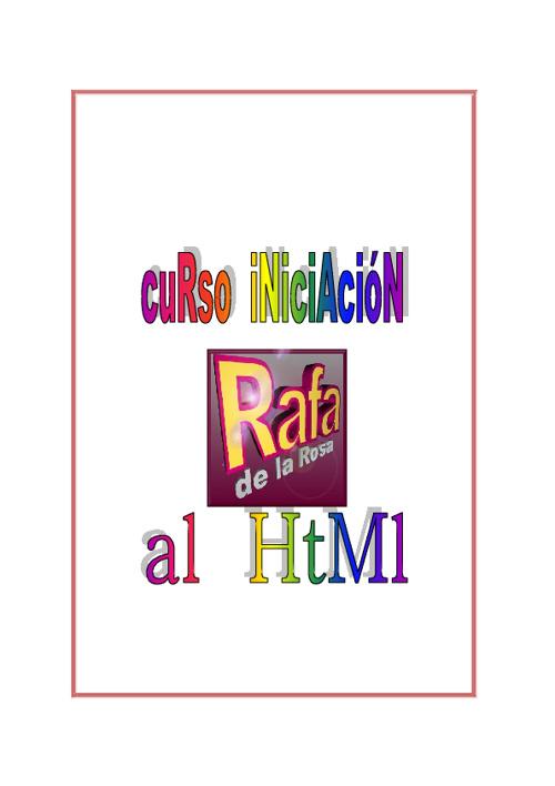 CURSO INICIACION AL HTML