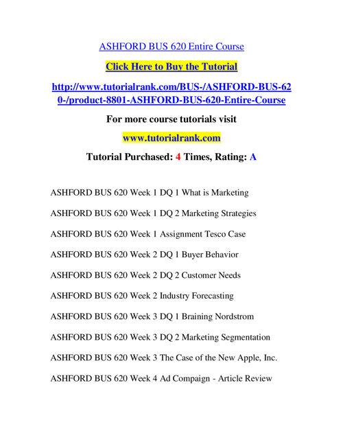 BUS 620 Slingshot Academy / Tutorialrank.Com