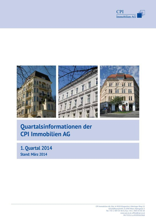 Quartalsinformationen 1. Quartal 2014
