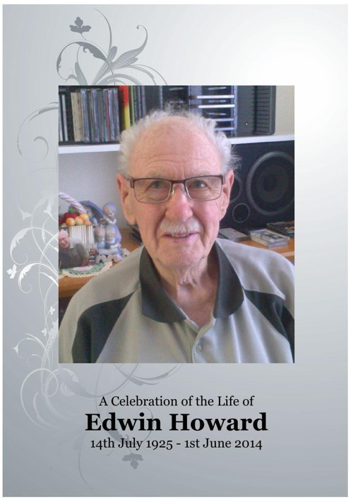 4 Order of Service for Edwin Howard