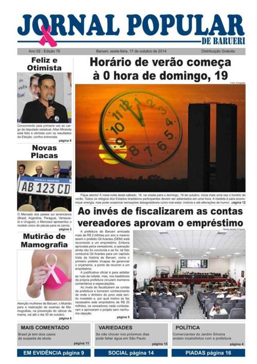 76ª edição do Jornal Popular de Barueri