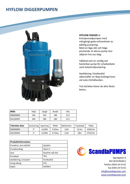 ScandiaPUMPS Pumpsortiment
