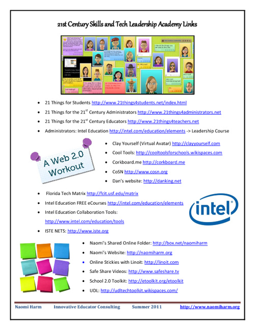 21st Century Skills and Favorite Websites