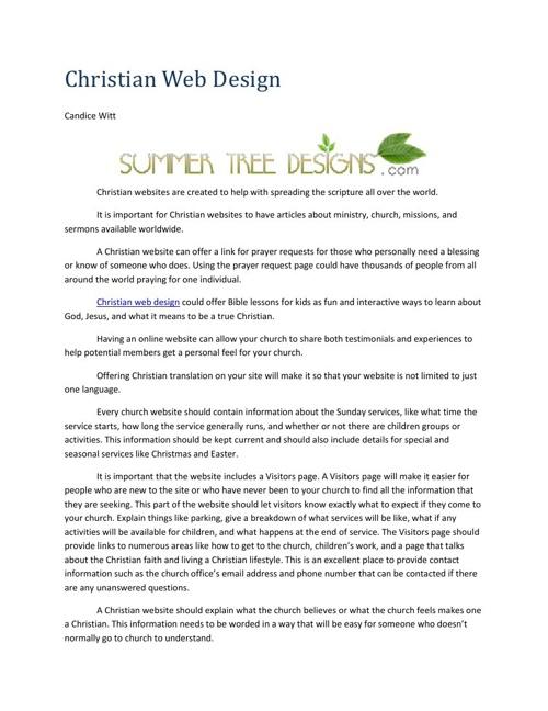 Christian Web Design