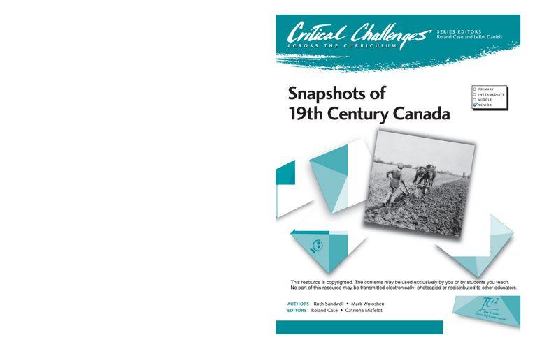 Snapshots iof 19th Century Canada