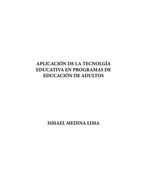 Aplicación de la tecnología educativa en programas de educación