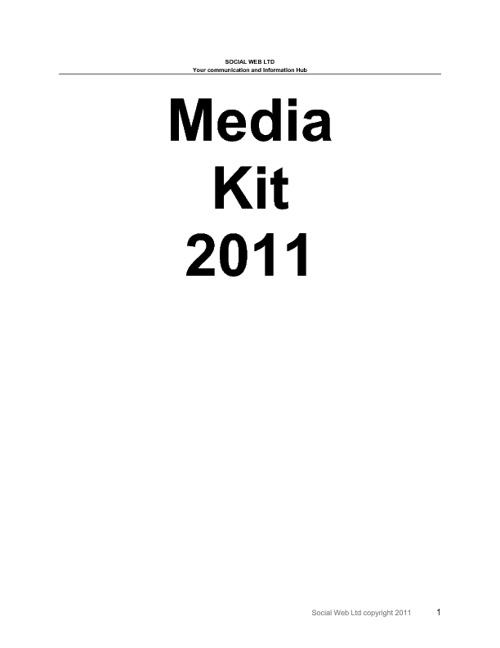 Social Web Media Kit 2001/2012