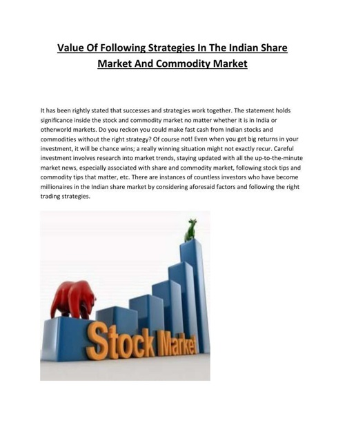 Indian share market tips
