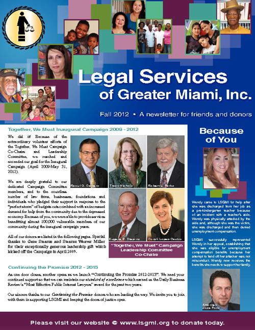 LSGMI Newsletter Fall 2012