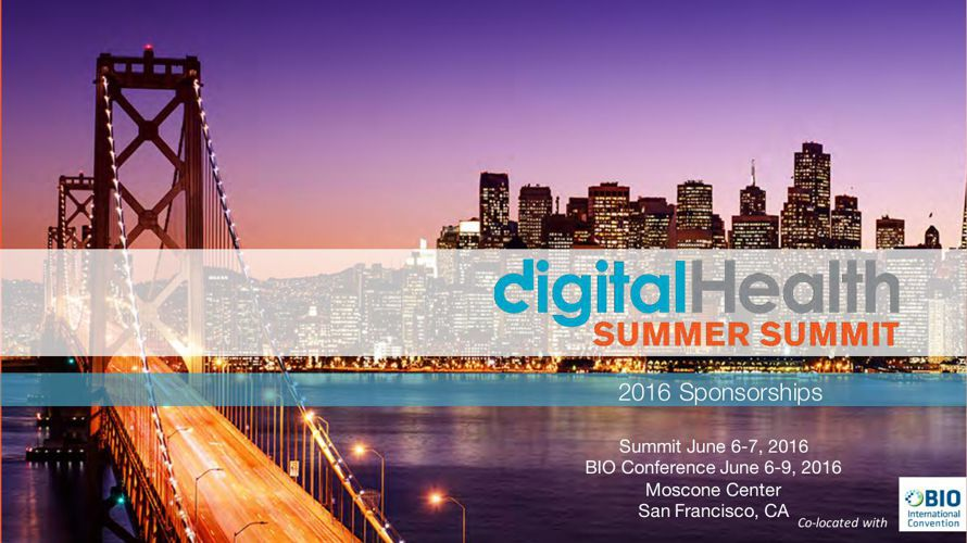 2016 Digital Health Summer Summit